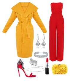 """""""Red & Yellow Makes Me Mellow!!!"""" by kelornp ❤ liked on Polyvore featuring Valentino, Aminah Abdul Jillil, Corto Moltedo, Bling Jewelry, Effy Jewelry, Thomas Sabo and MAC Cosmetics"""