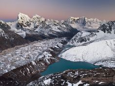 A stunning image showcasing the Gokyo Lake & Valley in the Himalayas