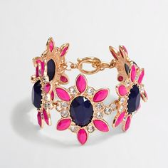Factory crystal flower bracelet. So cute! Delaney would love to get her hands on this.