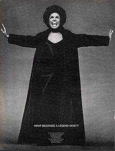 "Lena Horne - Blackglama Mink ""What Becomes A Legend Most?"" Ad Campaign (1969)."