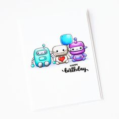 Measurements (all approximate): Robots - x x x x x x Balloon - x Spaceship - x Rockets - x x City - x Clear Stamps, Scrapbooking Ideas, Plushies, Geeks, Robots, Cardmaking, Stamping, Card Ideas, Balloons
