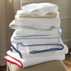 Matouk —Whipstitch - Bath Towels - Bath @@ Best Monogram Washington Depot. CT 203-770-7720