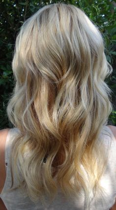 pretty blonde and pretty waves