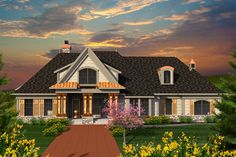 Aviana Manor European Home Country House Plan Front of Home - 051D-0732 | House Plans and More from houseplansandmore.com