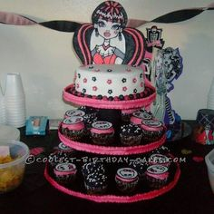 Coolest Monster High Cupcakes and Birthday Cake... This website is the Pinterest of birthday cake ideas