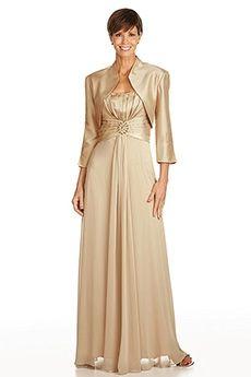 A-Line/Princess Square Floor-length Chiffon Mother of the Bride Dress