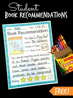 Student Book Recommendations - Playdough To Plato