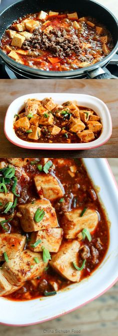 Real Sichuan style Mapo tofu- make without the meat Asian Recipes, Healthy Recipes, Ethnic Recipes, Japanese Tofu Recipes, Szechuan Recipes, Asian Foods, Tofu Dishes, Asian Cooking, Vegan