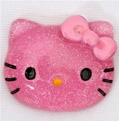 pink stuff | cute pink glitter Hello Kitty miniature deco kawaii - Miniature Items ...