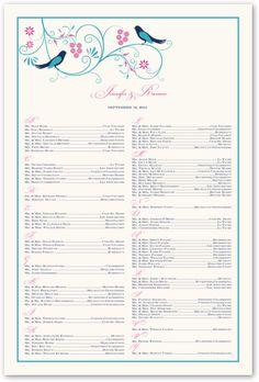 Pink Tea Rose Wedding Seating Chart  Wedding Seating Charts