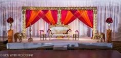 Indian Wedding Reception Stage,