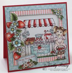 Joyfully Made Designs by Kathy Roney for Heartfelt Creations - using the new Berry Cafe Collection of stamps, dies and designer papers