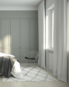 Helsingö wardrobe designs by scandi designers and traditional craftsmanship. Built on IKEA cabinets because taste isn't equal to high price. Ikea Wardrobe, Bedroom Wardrobe, Wardrobe Doors, Built In Wardrobe, Bed With Wardrobe, Bedroom Closet Design, Wardrobe Design, Bedroom Storage, Scandi Bedroom