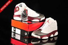 52a22f8b32c Discount Shoes Online Mens-Womens GREY TOE White Grey Red AIR JORDAN 13