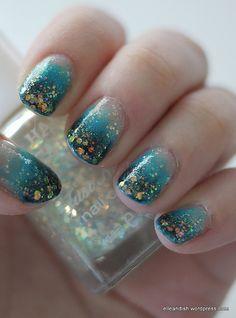 stormy seas nails #NOTD #manicure