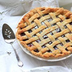 Cherry Blueberry Pie. #food #summer #pies #desserts