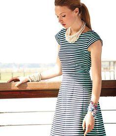 Lilly Pulitzer Fall '13- Briella Dress in Tropez Blue Ottoman Stripe