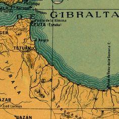 Mapa general de España y sus posesiones africanas :: Mapes d'Espanya (s.XV-XX)
