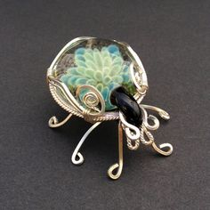 Handmade Wire Wrapped Glass Bug by BlackwolfJewelry on Etsy, $75.00