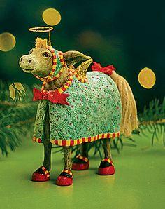 KrinklesOnline by Patience Brewster - 2009 Krinkles Manger Donkey Christmas Nativity Ornament
