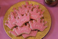 pink princess cookies, pink gold birthday, first birthday