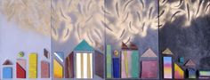 Alltogether - Birarada  40x60 cm (4x) quartet  mixed media 2010 Carnivals, Deconstruction, Perception, Mixed Media, Painting, Art, Carnavals, Art Background, Painting Art