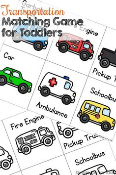 Transportation Matching Game For Toddlers My Toddler Loves Cars He Flipped When He Saw This Printable Transportation Matching Game Quick And Simple And Perfect For Little Hands Vocabulary Practice Visual Discrimination Fine Motor Practice And Transportation Theme For Toddlers, Transportation Activities, Car Activities, Toddler Activities, Daycare Themes, Preschool Themes, Preschool Learning, Teaching, Folder Games For Toddlers