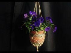 Jak prosto wykonać wiszący kwietnik ze sznurka - Pomysły plastyczne dla ...
