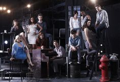 SMASH -- Season: 2 -- Megan Hilty as Ivy Lynn, Anjelica Huston as Eileen Rand, Jennifer Hudson as Veronica Moore, Jack Davenport as Derek Wills, Debra Messing as Julia Houston, Christian Borle as Tom Levitt, Krysta Rodriguez as Ana Vargas, Leslie Odom Jr as Sam Strickland, Andy Mientus as Kyle Bishop, Katharine McPhee as Karen Cartwright, Jeremy Jordan as Jimmy Collins -- (Photo by: Mark Seliger/NBC)