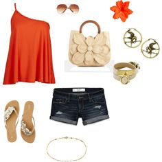 My summer outfit, created by brittany-newland on Polyvore