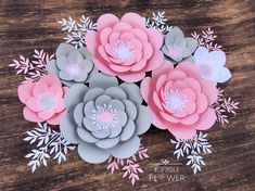 Minnie Mouse Birthday, Minnie Mouse Backdrop, Minnie Mouse Party Decorations, Minnie Mouse Pink and Gold, Pink and Gold Minnie Mouse Paper Flower Art, Paper Flower Tutorial, Paper Flower Backdrop, Paper Flowers Diy, Paper Roses, Flower Diy, Minnie Mouse Party Decorations, Baby Shower Decorations For Boys, Bridal Shower Decorations