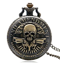 Cheap watch frame, Buy Quality watch dial directly from China watch ion Suppliers: New Arrival AMENDMENT Guns Design Pocket Watch Men Vintage Pendant Watch Hot Pocket Watch Necklace, Necklace Chain, Quartz Pocket Watch, Skeleton Watches, Vintage Pocket Watch, Skull Design, Skull Jewelry, Stainless Steel Watch, Vintage Men