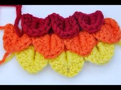 crocodile or scale stitch: how to!  great tutorial  :)