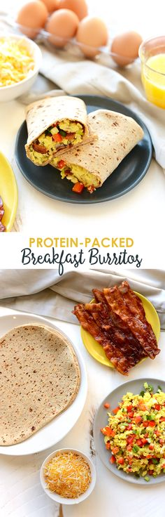 This is meal prep at its finest! Make these delicious protein-packed breakfast burritos to have before work or school all week long!