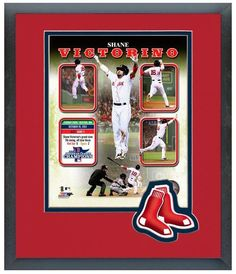Shane Victorino 2013 ALCS Grand Slam Composite - 11 x 14 Matted/Framed Photo