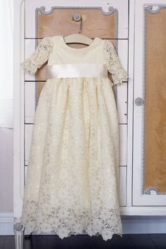 baby christening dress blessing dress first by SadieThenTy on Etsy