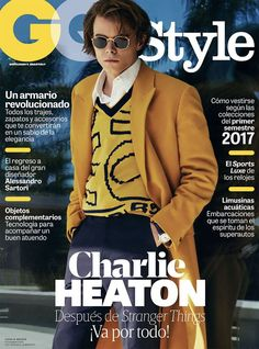 Stranger Things Star Charlie Heaton Poses for GQ Style Mexico April 2017 Issue Street Style Boy, Gq Men, Gq Style, Male Magazine, Fashion Plates, Stranger Things, Comedians, Actors & Actresses, Pop Culture