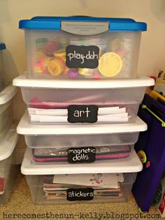 Here Comes the Sun: Giveaway Winner and Girl's Room Organization Girls Room Organization, Toy Organization, Organizing Tips, Play Doh Art, Kid Toy Storage, Storage Ideas, Plastic Bins, Organizer, My Room
