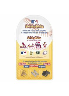 St. Louis Cardinals Shrinky Dinks