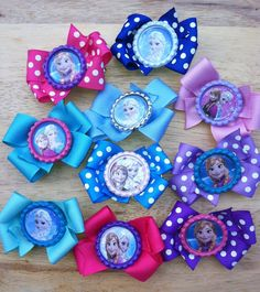 Is your little one having a Frozen Theme Birthday Party? These would make an excellent party favor to give her friends! Ribbon and cap colors are