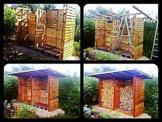 Pallet Firewood Shed #Garden, #PalletShed