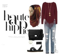 """Hijab Hippies Style"" by yourism on Polyvore featuring Joe's Jeans, Boris, Isabel Marant, rag & bone, Aspinal of London, Haute Hippie and Hippies"