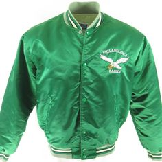 8ee4604fa0b Vintage 80s Starter NFL Football Philadelphia Eagles Satin Jacket XL   H36S 1-7  Vintage