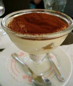 Tiramisu in a martini glass