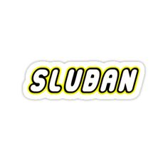 """""""SLUBAN by Customize My Minifig"""" Stickers by ChilleeW 