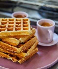 Sütőporos gofri, amit nem tudtok elrontani   Street Kitchen Waffles, Street, Breakfast, Kitchen, Food, Morning Coffee, Cooking, Kitchens, Essen