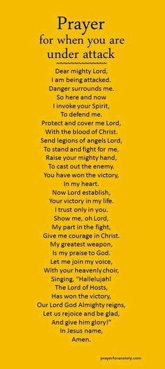 Prayer for when you're under attack.