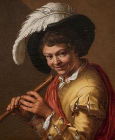Abraham Bloemaert- Jonge met fluit. Boy with fluit. Pojke med flöjt.