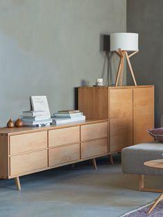 Highboard Tesoro 2-türig | Grüne Erde Natural Living, Office Desk, Cabinet, Furniture, Storage, Modern, Home Decor, Green Earth, Oak Tree