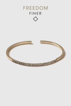 Freedom Finer Etched Clean Bangle